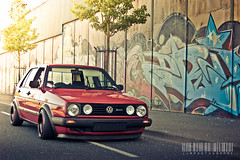 20100524-DSC_0009 (James Macauley) Tags: vw golf volkswagen graffiti low belfast mk2 gti slammed stance