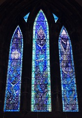 Glasgow Cathedral Millennium Window (© Jamie Mitchell) Tags: world city fish tree church glass square scotland george championship high christ arms cathedral eagle bell glasgow flag coat jesus gothic pipes scottish medieval stained nave christianity bagpipes chambers pulpit protestant bagpiper kirk scots saltire glaswegian