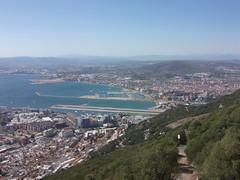 Gibraltar (Terry Hassan) Tags: city panorama rock marina spain view harbour british gibraltar runway slope algecirasbay lalneadelaconcepcin