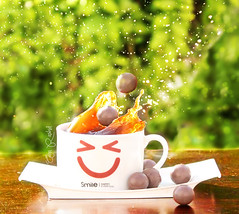 Morning coffee splash .. 50/5 (Alaa rashid | ) Tags: morning cup coffee splash rashid maltesers alaa