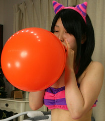 blow Up (emotiroi auranaut) Tags: pink orange woman game color cute sexy girl beautiful beauty face japan mystery lady female cat hair circle asian fun toy costume big nice feline colorful asia pretty purple cosplay feminine balloon adorable kitty babe stretch blow round attractive mysterious meow lovely charming breathe bigger squeak nyan breathing delightful allure expand inflation femininity