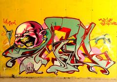 CAIN _ Coke-Head Clown, part two. (SRCARAMELOS) Tags: new wild urban inca blood colours head clown coke colores boom alicante wc cans eds bomb nuevo pistola cocaine 2012 taser cain 2k12 edsoldier