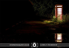 Lonely Phonebox (xyzphotography) Tags: england night dark photography unitedkingdom britain leicester sl lonely losted slowshutterspeed noctural