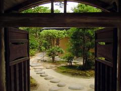 Isuien garden gate (Germn Vogel) Tags: door tree japan stone garden japanesegarden gate asia entrance nara kansai pathway eastasia isuien
