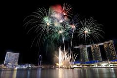 Celebration Time (Andrew Tan 2011) Tags: nightphotography night singapore fireworks ritzcarlton flick nationalday marinabay bigmomma singaporeflyer marinabaysands flickrchallengegroup flickrchallengewinner ndp2012