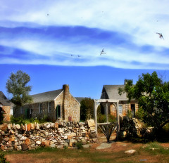 --- on the island --- (xandram) Tags: summer photoshop manipulation stonehouses isleofshoals starisland