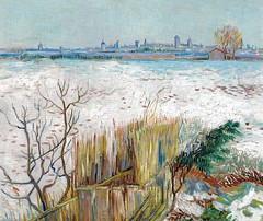 Vincent van Gogh - Snowy Landscape with Arles in the Background, 1888 (Private Collection) Van Gogh: Up Close at Philadelphia Museum of Art (mbell1975) Tags: art philadelphia up museum painting private french landscape gallery museu close with snowy background fine vincent arts muse musee m collection impressionism museo van gogh arles impression impressionist muzeum mze gallerie 1888 museumuseum