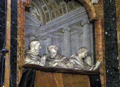 Bernini , Left Witnes Box (close and dusty), Cornaro Chapel, Santa Maria della Vittoria