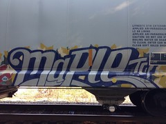 Maple (Revise_D) Tags: railroad art train bench painting graffiti steel tags railcar tagging freight revised benching fr8heaven revisedesigns