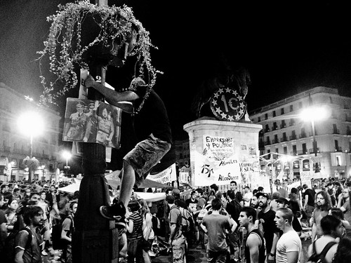 Demonstration in Plaza Puerta del Sol