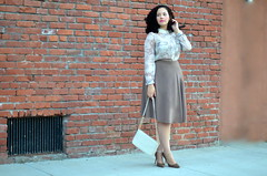 Neutral Territory (GirlWithCurves) Tags: curvy curlyhair plussize plussizefashion girlwithcurves taneshaawasthi