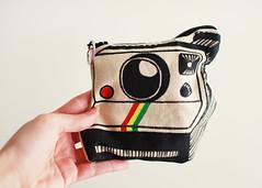 Snappy Bag (SOMETHiNG MONUMENTAL) Tags: camera bag polaroid nikon handmade drawing sewing pouch d60 somethingmonumental mandycrandell