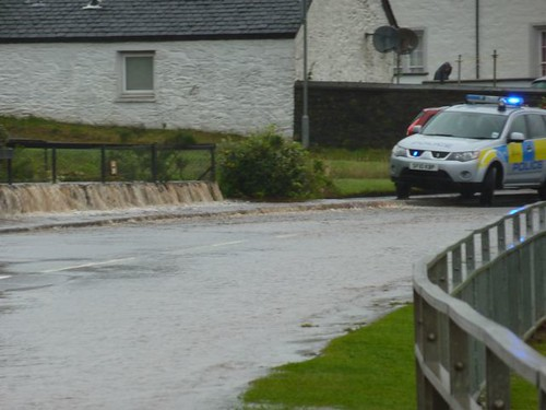 Ardrishaig flooding 27 August 2