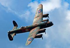 Avro's most famous 4 engined.. (mickb6265) Tags: battleofbritainmemorialflight bbmf pa474 bombercommand nikond90 phantomoftheruhr sigma120400os avrolancastermk1 littlegransdenairshow2012