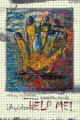 Help me! (Carmen Carpente) Tags: woman eye illustration ojo blood mujer hand heart notes diary help madness silence mano notas symbols tear suffering corazn weeping sangre silencio diario ilustracin maltrato suffer locura ayuda smbolos sufrimiento lgrima mistreatment llanto sufrir sufriendo