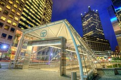 Gateway Center Trolley stop in Pittsburgh HDR (Dave DiCello) Tags: beautiful skyline photoshop nikon pittsburgh tripod usxtower steelbuilding christmastree northshore bluehour nikkor hdr highdynamicrange pncpark marketsquare thepoint pittsburghpirates trolleystop cs4 gatewaycenter steelcity photomatix beautifulcities yinzer cityofbridges tonemapped theburgh pittsburgher colorefex cs5 ussteelbuilding beautifulskyline d700 usxbuilding thecityofbridges pittsburghphotography davedicello pittsburghtrolley pittsburghcityofbridges steelscapes beautifulcitiesatnight hdrexposed picturesofpittsburgh cityofbridgesphotography