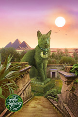 The Topiary Cat in Egypt (Rich Saunders) Tags: surreal surrealism surrealist richardsaunderssurrealist richardsaunders richardsaunderssurreal fantasy fantastic unreal art artist artistic representational hertfordartsociety hertford hertfordshire popsurrealism technique psychedelic drug drugs sixties seventies 60s 70s saunders richardmsaunders pop dali salvadordali thetopiarycat topiary cat feline cats greencat foliage magic fairytale imagination imaginary photoshop montage photomontage photocomposition photographic photograph egypt egyptian pyramids god gods evening highgatecemetery highgate tomb grave graveyard