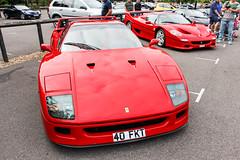 1989 Ferrari F40, 1997 Ferrari F50 (demented_b) Tags: 1989 ferrari f40 f50 rosso corsa red icons by the lake 2016 virginia surrey supercar hypercar car auto