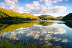 Beside Loch of the Lowes (benstaceyphotography) Tags: scotland loch lake summer nikon kitlens 1855mm clouds reflection water mountains hills handheld