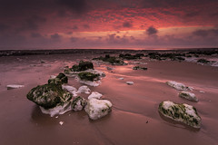 Low Tide @ Botany Bay (scott.hammond34) Tags: landscape seascape dawn bluehour broadstairs kent uk lowtide sand beach rocks coast sky clouds vibrant colour red outdoor botanybay