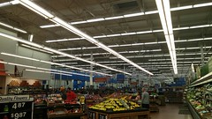 Lights above produce, turned on (Retail Retell) Tags: hernando ms walmart desoto county retail project impact supercenter store 5419 remodel black dcor 20 icons interior