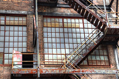 Stairway & Windows (foregorp) Tags: steps stairs windows ruins door bethlehem pennsylvania steelstacks history old angles lines patterns