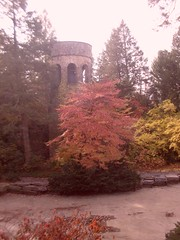 Autumn at Longwood Gardens (SandraNestle) Tags: sandranestle longwoodgardens autumn tower misty gardens jardins usa landscapes trees architecture parks