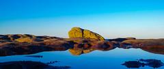 Shelly Rock (dw01010101) Tags: beach seaside sunset shellyrock miniature rock sky blue yellow