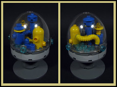 Phactory under Glass (Karf Oohlu) Tags: lego moc microscale factory underglass dome domedcity