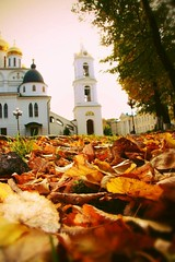 Autumn Leaves (lubovphotographer) Tags: leaves autumn dmitrov dmitrovkremlin samsunggalaxycamera photography photo panorama church monastert goodshot picturethis