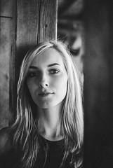 LiSaLaFa (Fournes) Tags: nikon nikond3000 35mm bnw blacknwhite blond girl woman portrait magdeburg