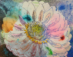 DSC0966869 (scott_waterman) Tags: scottwaterman painting paper ink watercolor gouache lotus lotusflower