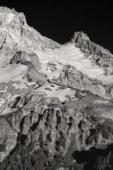 Mighty Mt. Hood (Joshua Johnston Photography) Tags: oregon pacificnorthwest pnw nature landscapephotography joshuajohnston canon6d canonef70200f4lisusm mthood blackandwhite
