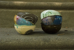 small press mold bowls experimental surfaces (karenchristine552) Tags: utata:project=goarts ceramics clay pottery universitycity utata:entry=5 westphiladelphia