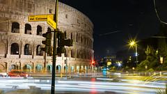 The Colosseum By Night... (Tom Peddle) Tags: italy rome roma long exposure coliseum colosseum lights light trail traffic rain