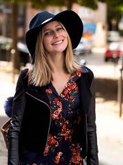 P8210301 (marcel_reimann) Tags: nrnberg bayern deutschland de stegerwalk blond blondhair smile model shooting portrait olympus epl7 lightroom light leather hat girl woman