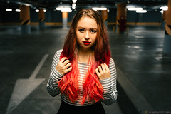 Zoe (Lumowelt) Tags: girl portrait redhair redhead yaroslavl russia parking lowlight       beautiful