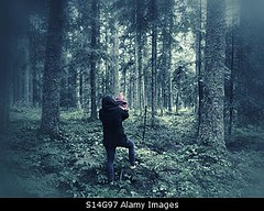 Photo accepted by Stockimo (vanya.bovajo) Tags: stockimo iphonegraphy iphone kidnapping toddler child girl children forest nature woods scary scared dark darkness two persons adult young caucasian kidnapped trees tree