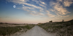 Road To Nowhere (Robby Ryke) Tags: road moon night canon landscape scenery michigan dunes hikingtrail roadtonowhere