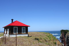 Reddy (Robem) Tags: ocean red rural buildings landscape exteriors pointcabrillo