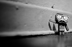 009 (love_punx) Tags: blackandwhite bw toy amazon nikon dof photos days 365 mustache danbo amazoncojp d90 365days nikond90 danbowithmustache