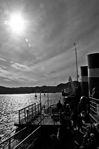 Waverley approaching Scalasaig, Colonsay