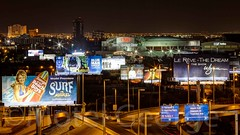 Las Vegas Billboards and The Thomas & Mack Center (Motel George) Tags: lasvegas canon70200l photomatix thomasmackcenter canon5dmarkii lasvegasbillboards surfthemusical