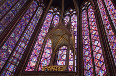 The Vacant Shrine (Lawrence OP) Tags: paris glass shrine gothic stained saintechapelle relic reliquary crownofthorns apse