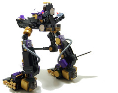 """Mech Daddy"" - 4 (Silenced_pp7) Tags: brick daddy gold robot purple arms lego space prototype pimp custom mack pimpin mecha mech minigun pimping moc protos hardsuit brickarms maaw m1887 mechdaddy"
