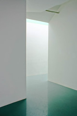 Spaces (The End of Summer) Tags: white art museum floors geometry teal silence walls neutral