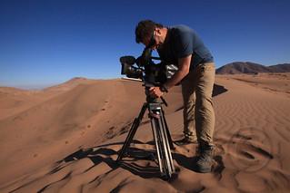 Filming in the Atakama