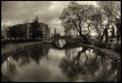 rain walking....... (EcOnAnDrE) Tags: bridge nature forest ancient nikon shadows bridges medieval greece 1855 dslr edessa  gefyri      d5100 gefyria meseoniko  edessabridge