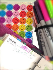 Starting Over (mimi.candi) Tags: summer colors smile colours exercise personal stickers july lifestyle organizer health raspberry positive sharpie fitness sick filofax kidneystone organiser finsbury startingover