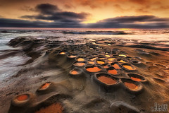 Potholes! (Eddie 11uisma) Tags: california sunset beach canon landscape golden la san seascapes mark iii diego coastal hour 5d jolla potholes